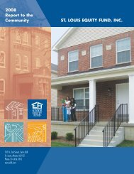 Download 2008 Report (pdf, 1.49MB) - St. Louis Equity Fund, Inc.