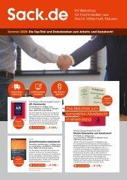 Sommer 2020: Die Top-Titel und Datenbanken zum Arbeits- und Sozialrecht
