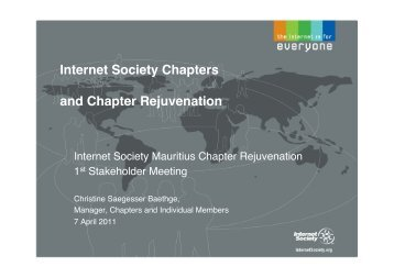 What does the Internet Society expect from Chapters?