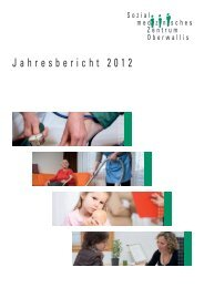 Jahresbericht 2012 Sozialmedizinisches Zentrum Oberwallis