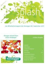 das Mitarbeitermagazin der Honegger AG | September 2011 in ...