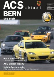 Leistungen die überzeugen. - ACS Automobil-Club der Schweiz