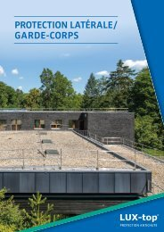 LUX-top® G-T Protection Latérale / Garde-Corps