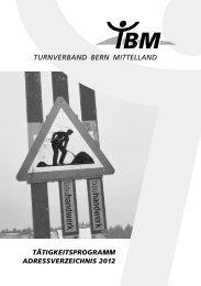 Vereine (Fortsetzung) - Turnverband Bern Mittelland