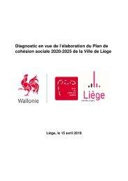 Diagnostic en vue de l'élaboration du Plan de cohésion sociale 2020-2025