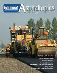 ASPHALTopics | Fall 2007 | VOL 20 | NO 3