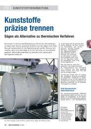 Kunststoffe präzise trennen Sägen als Alternative zu thermischen ...