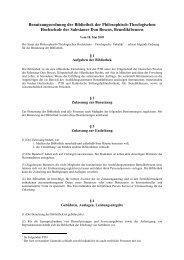 Benutzungsordnung der Bibliothek der Philosophisch ... - KSFH