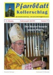 Sonntag, 3. Juli - Pfarre Kollerschlag - Diözese Linz