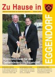 Spatenstichfeier für das Gemeindezentrum ... - Gemeinde Eggendorf