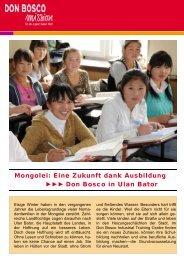 170 Euro pro Monat beträgt ein Lehrergehalt - Don Bosco Mission