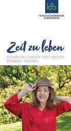 Zeit zu leben – Veranstaltungskalender für Frauen 09/2020– 08/2021