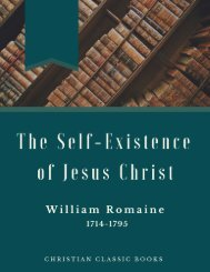 The Self-Existence of Jesus Christ