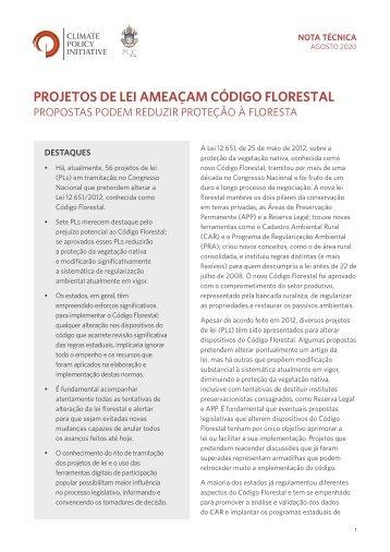 Projetos de Lei ameaçam Código Florestal