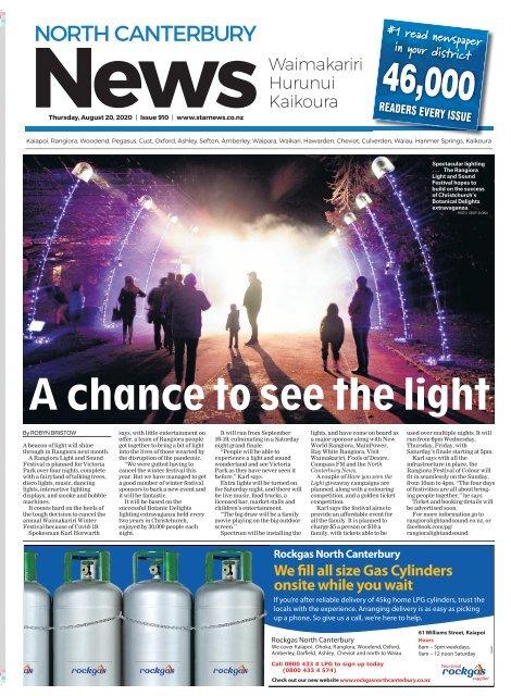 North Canterbury News: August 20, 2020