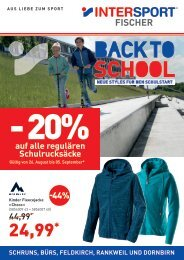 Flugblatt Back to School - INTERSPORT Fischer