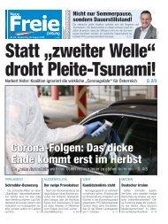 """Statt """"zweiter Welle"""" droht Pleite-Tsunami!"""