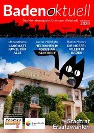 Baden aktuell Magazin September 2020