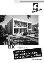 Liefer- und Leistungsbeschreibung ELK ... - Elk Fertighaus AG