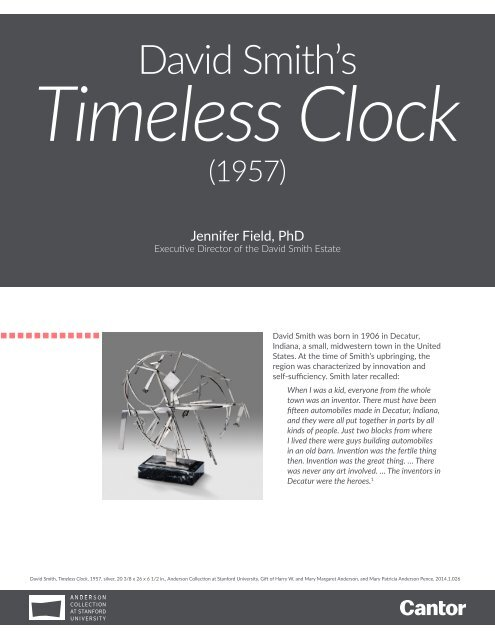 Learning Guide   David Smith's Timeless Clock