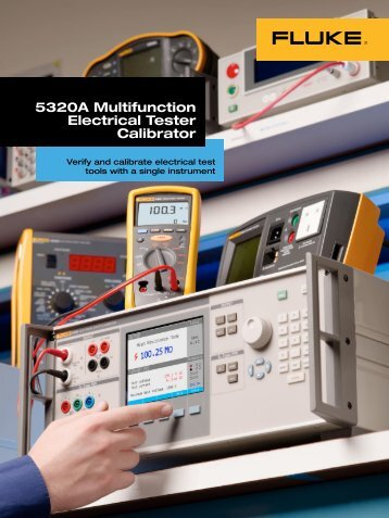 5320A Multifunction Electrical Tester Calibrator: Wide workload - Fluke