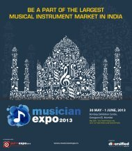 be a part of the largest musical instrument market in ... - Musician Expo