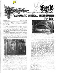 AUTOMATIC MUSICAL INSTRUMENTS