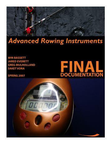 Advanced Rowing Instruments – Business Plan & Final ... - Saket Vora