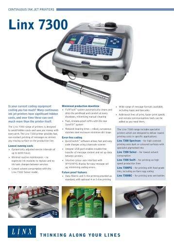 linx 7300 spectrum pigmented ink printer pt asia rh yumpu com