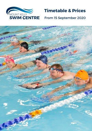Swim Centre Timetable Leaflet |15 September 2020