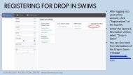 Dovercourt: How-to Book Drop In Swims Online - Fall 2020