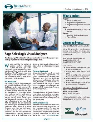 Sage SalesLogix Visual Analyzer - Simplesoft Solutions, Inc.