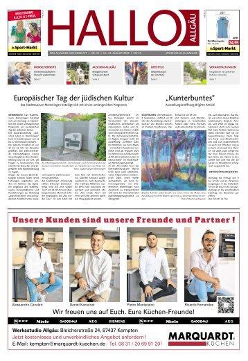Hallo-Allgäu  vom Samstag, 22.August