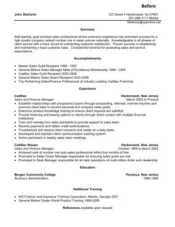 Perfect Sales Manager Resume Sample Panoramic Resumes In Sales Consultant Resume