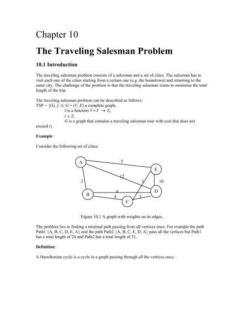 Chapter 10 The Traveling Salesman Problem
