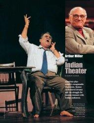 Arthur Miller in Indian Theater - Span