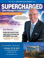 Sales Manager's Conference - Myers Barnes Associates
