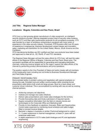 regional sales manager job description sales manager job