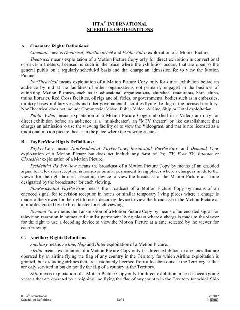 Ifta Form Sales Agent Agreement
