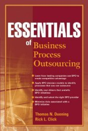 Essentials of Business Process Outsourcing - School of Computer ...