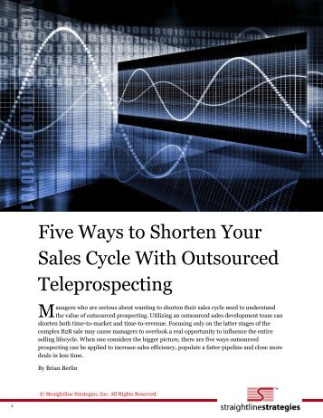 Five Ways to Shorten Your Sales Cycle With Outsourced ...