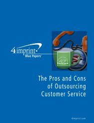The Pros and Cons of Outsourcing Customer Service - 4imprint ...