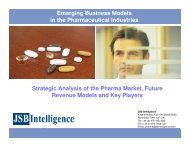 Emerging Business Models in the Pharmaceutical Industries ...