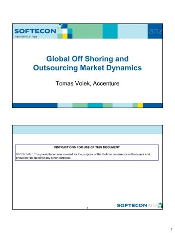 Agenda Global Outsourcing Trends - Softec