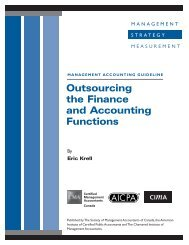 Outsourcing the Finance and Accounting Functions - CIMA