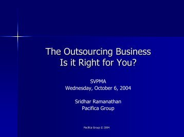 The Outsourcing Business—Is it Right for You? - svpma