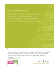 Mobilicity Outsourcing Strategy - Amdocs