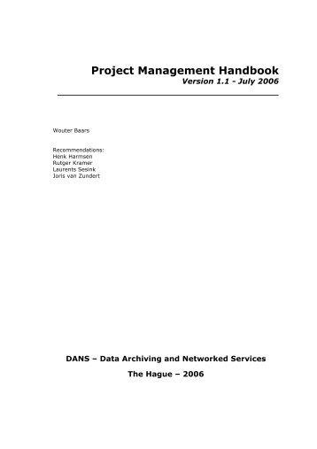 Project Management Handbook - Projectmanagement training
