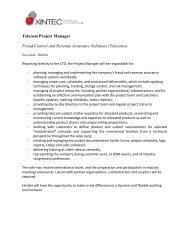 Sales & Marketing Executive (aged 25-35) - Xintec