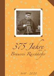 Chronik 375 Jahre Brauerei Raschhofer